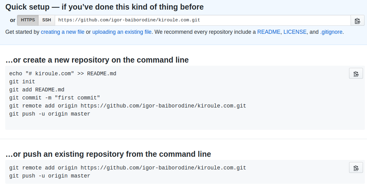 GitHub New Repo Instructions